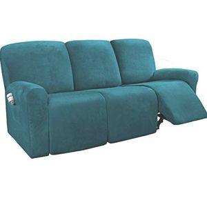 🆕️8-Pieces Recliner Sofa Covers Velvet Plush